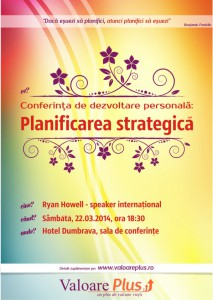 Afis conferinta planificare strategica