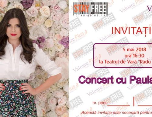 Invitație la concertul Paulei Seling în Bacău pe 5 mai 2018