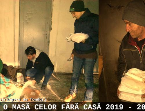 Oferă o masă celor fără casă 15 dec 2019 – 15 ian 2020